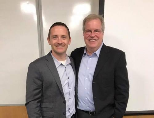 David Fedewa and president of the Minnesota Inventors Network Steve Lyon